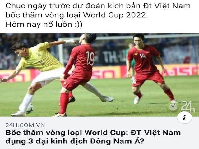 """Dân mạng thích thú với """"AFF thu nhỏ"""" của bảng G vòng loại World Cup 2022 có Việt Nam"""