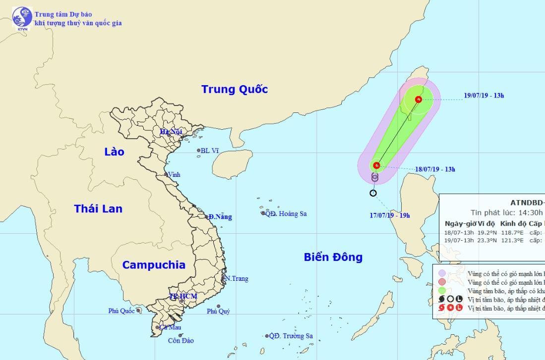 Áp thấp nhiệt đới trên Biển Đông quay đầu, hướng ra ngoài khơi - 1