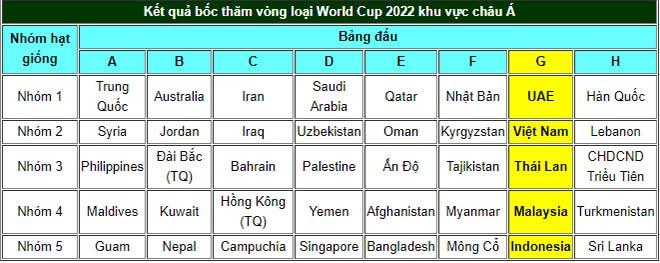 ĐT Việt Nam tranh vé World Cup: Đụng UAE - Thái Lan, khó lại hóa dễ - 1