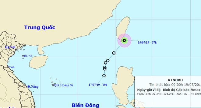 Thông tin mới nhất về áp thấp nhiệt đới trên Biển Đông - 1