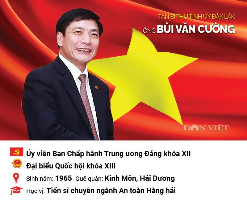 Infographic: Chân dung tân Bí thư Tỉnh ủy Đắk Lắk Bùi Văn Cường - 1