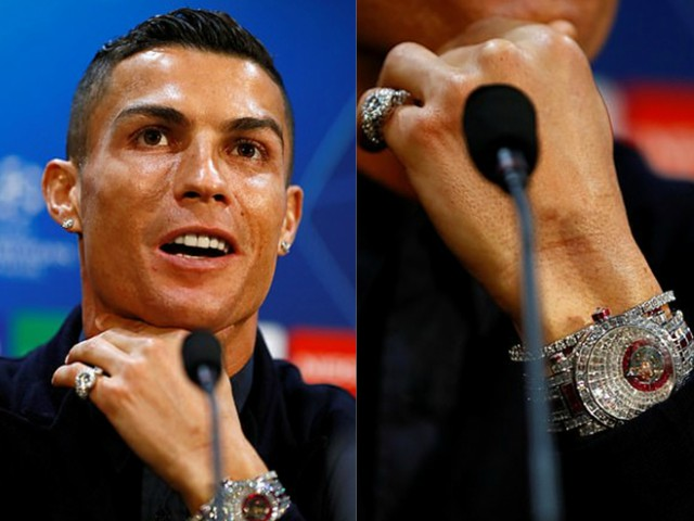 Shaken 100 billionth collection hours CR7, diamond encrusted