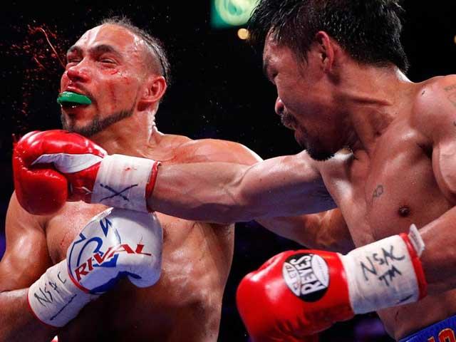 """Video, kết quả boxing Pacquiao - Thurman: """"Đo sàn"""" choáng váng ngay hiệp 1 - 1"""