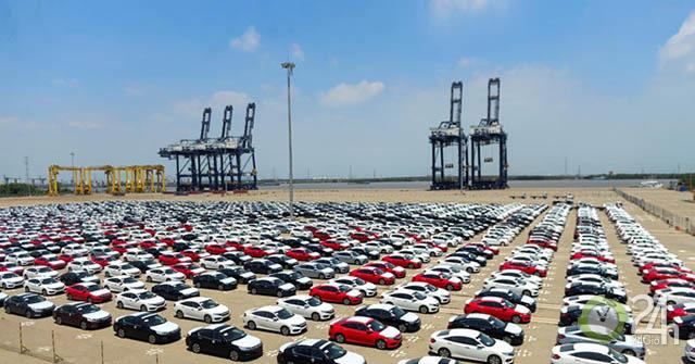 Thuế nhập khẩu ô tô nguyên chiếc tăng hơn 4 lần trong tháng 6