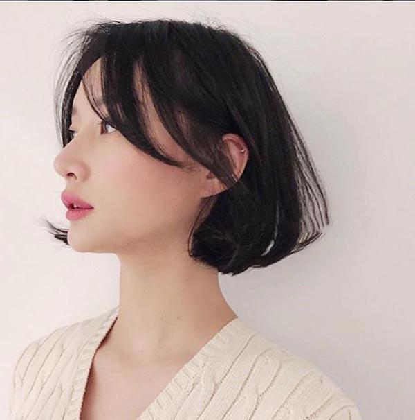 3 kiểu tóc ngắn trên cằm xinh xắn, được yêu thích nhất mùa hè thu 2019 - 4
