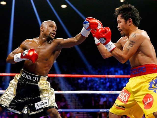 Siêu sao boxing Mayweather và Pacquiao khiêu khích đại chiến tỷ đô lần 2 - 1