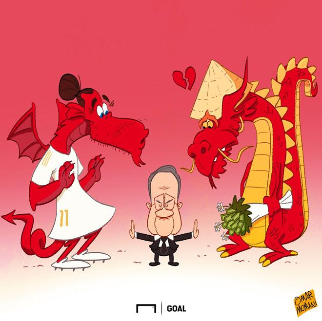 """Ảnh chế: Real Madrid quyết """"ngăn cản"""" Bale đến Trung Quốc - 1"""