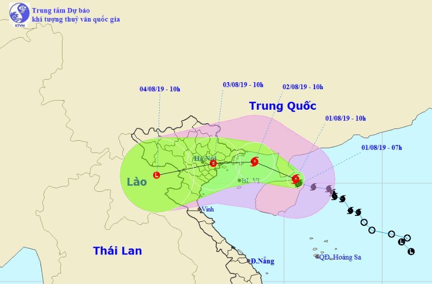 Khi nào bão số 3 đổ bộ đất liền và những tỉnh nào nằm trong tâm bão? - 1