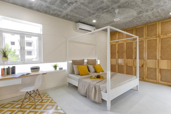 Phòng ngủ cho những đứa trẻ đã được chuẩn bị sẵn dù còn nhiều tháng nữa đứa trẻ mới chào đời.