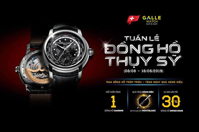Mua đồng hồ trăm triệu - nhận ngay quà hàng hiệu cùng Galle Watch - 1