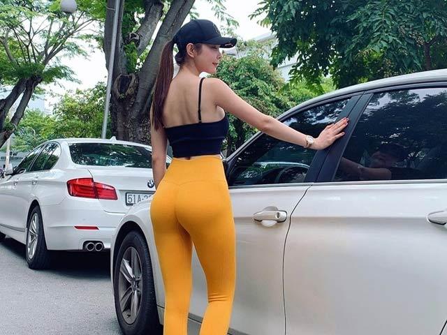 Hoa hậu Đồng Tháp, Khánh My mắc lỗi khi mặc quần tập ra nơi công cộng