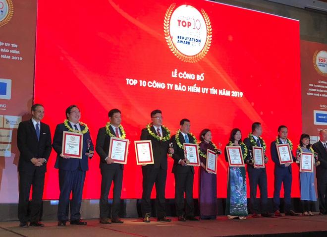 Cathay Life Việt Nam vinh dự nhận giải thưởng Top 10 công ty Bảo hiểm nhân thọ uy tín 2019 - 2