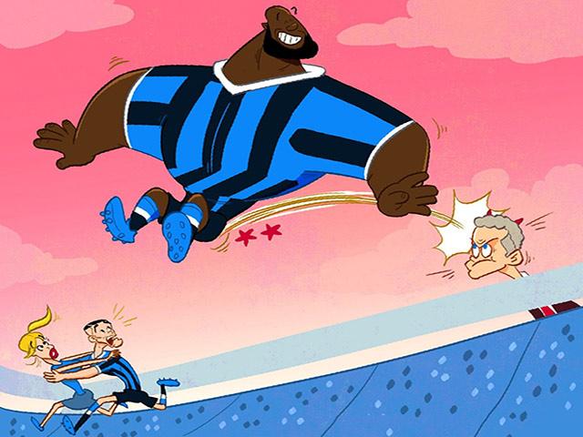 """Ảnh chế: Lukaku vui mừng khi """"thoát thân"""" khỏi MU"""