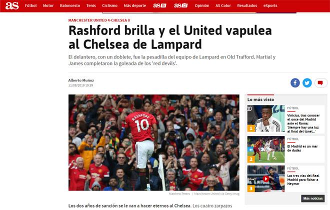 MU vùi dập Chelsea 4-0: Báo quốc tế chỉ trích Lampard sai lầm chiến thuật - 1
