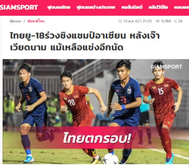 U18 Thái Lan hòa U18 Việt Nam, kém nhất Đông Nam Á: Báo Thái chê tệ nhất 14 năm - 1