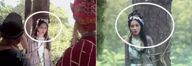 Hình ảnh sợi dây trói cũng bị thay đổi dù trong cùng 1 cảnh.