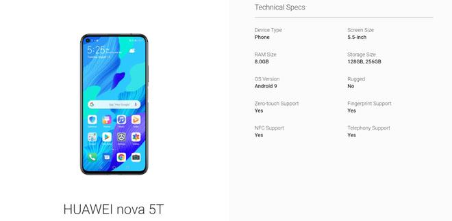 Huawei Nova 5T xuất hiện: thiết kế chất ngang Galaxy S10, giá chỉ bằng một góc nhỏ - 1