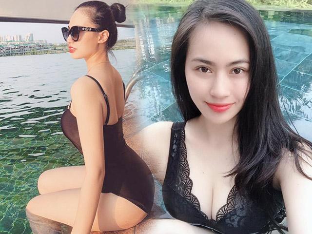 """Sắc vóc gợi cảm """"không phải dạng vừa"""" của tình mới tin đồn Quang Hải"""