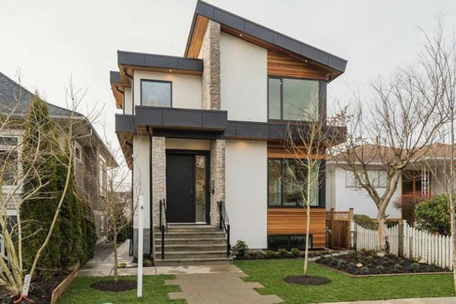 Ngôi nhà được xây dựng tại Canada với lối thiết kế theo xu thế tối giản do sở hữu diện tích xây dựng nhỏ.