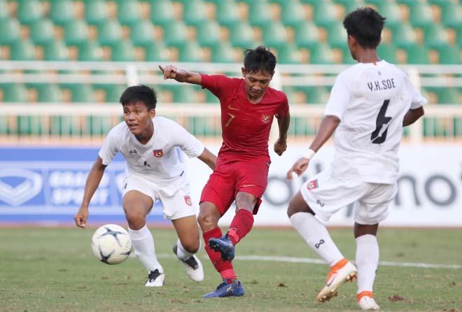 U18 Indonesia - U18 Myanmar: Vỡ vụn 11 phút 5 bàn, Beckham lập cú đúp - 1