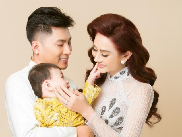 Vợ chồng Lâm Khánh Chi lần đầu chụp bộ ảnh cùng con trai nhờ người mang thai hộ