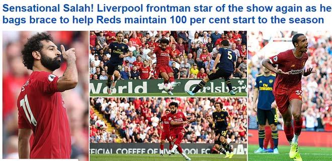 """Liverpool """"đè bẹp"""" Arsenal: Báo Anh gọi là """"lốc đỏ"""", mê mẩn siêu Salah - 1"""