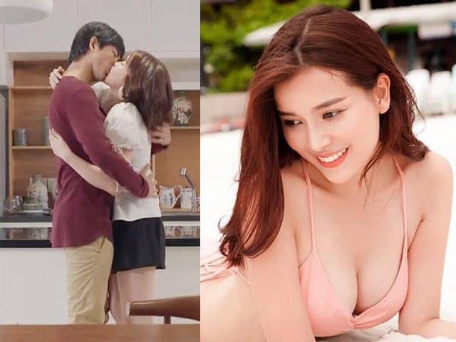 Vẻ gợi cảm của người đẹp miền Tây đóng cảnh ôm hôn táo bạo chồng cũ Trương Quỳnh Anh