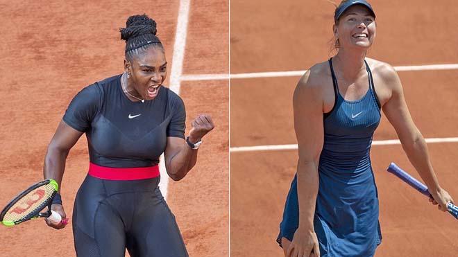 Video tennis Sharapova - Serena: Sức mạnh sấm sét, break liên hồi (Vòng 1 US Open) - 1