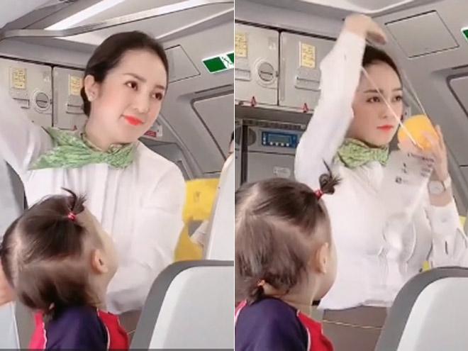Bị quay lén trên máy bay, nữ tiếp viên hàng không bất ngờ nổi tiếng vì quá xinh - 1