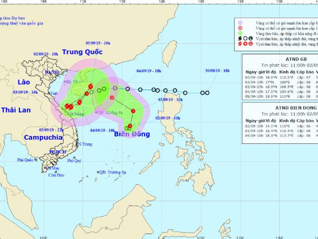 Áp thấp nhiệt đới kép trên biển: Nguy cơ mưa lũ lớn