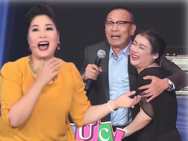 """MC Lại Văn Sâm bất ngờ """"tỏ tình"""", nói lời yêu nữ nghệ sĩ U60 trên sóng truyền hình"""