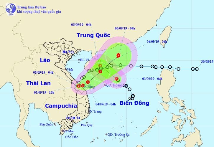 Áp thấp nhiệt đới Kajiki đang đi vào đất liền Quảng Trị-Thừa Thiên Huế, mưa to nhiều nơi - 1
