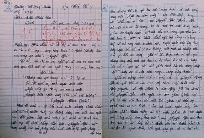 Choáng với bài văn 18 trang của nam sinh khiến cô giáo cũng không nói nên lời - 1