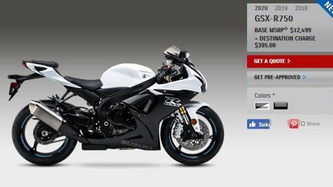 Suzuki GSX-R750 2020: Sportbike tầm trung đáng mua trong năm 2019 - 1