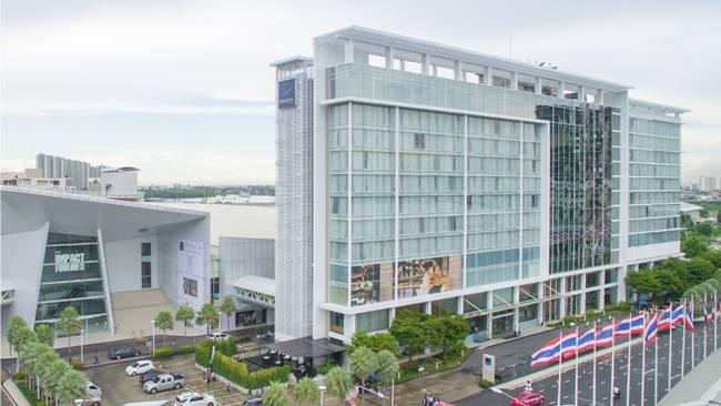Tuyển Việt Nam ở tại khách sạn Novotel Bangkok Impact (Bangkok, Thái Lan) đạt tiêu chuẩn 4 sao.