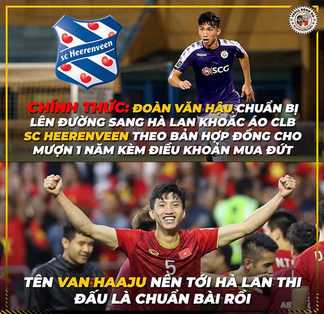 """Văn Hậu sang Hà Lan thi đấu khiến fan Việt một phen """"sôi sục""""."""