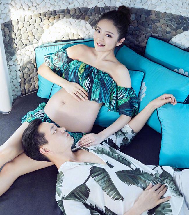 Bộ ảnh thực hiện khi An Dĩ Hiên mang bầu tháng thứ 8 thai kỳ.