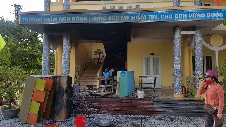 Cháy trường mầm non, sơ tán kịp thời gần 120 trẻ nhỏ - 1