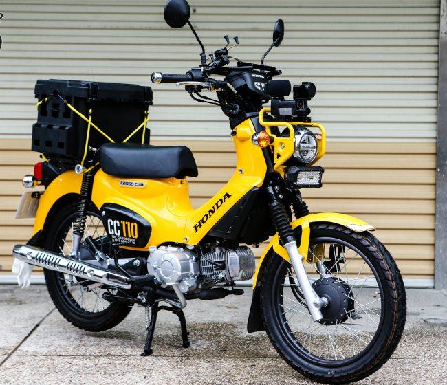 Honda Cross Cub 110 là một ấn phẩm độc đáo trong gia đình xe máy huyền thoại Honda Cub.