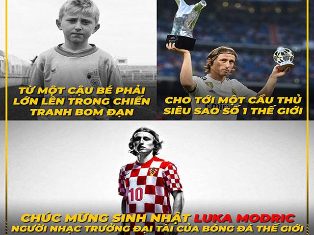 """Dân mạng mang """"quả bóng vàng"""" ra chế giễu Luka Modric trong ngày sinh nhật"""