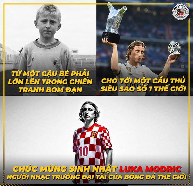"""Dân mạng mang """"quả bóng vàng"""" ra chế giễu Luka Modric trong ngày sinh nhật - 1"""