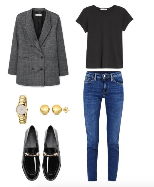 Áo blazer, sơ mi lụa, giày loafer: Gợi ý 7 kiểu mix đồ style Pháp cho mùa thu - 1