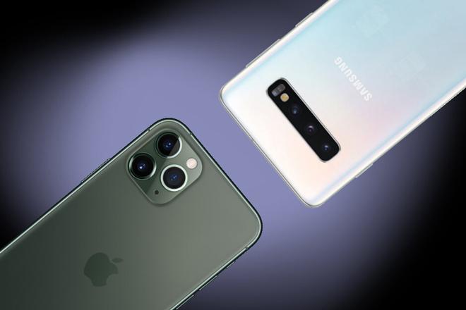 """So nhanh bộ ba Galaxy S10 và ba """"anh tài"""" iPhone 11 - 1"""