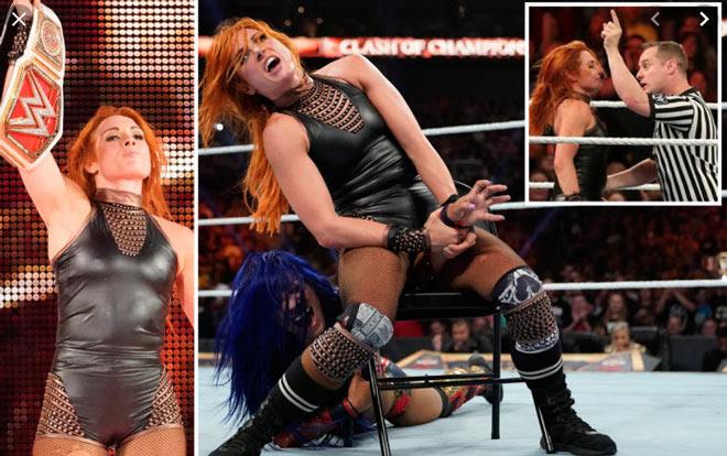 Kiều nữ nổi điên gây chấn động WWE: Cầm ghế phang thẳng đầu trọng tài - 1