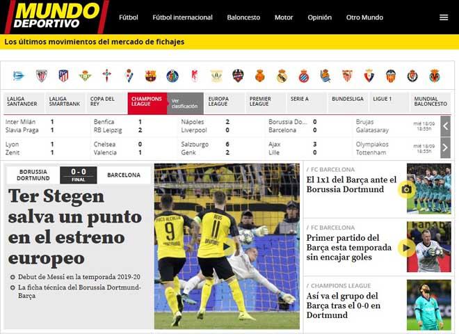"""Barca hút chết cúp C1: Báo chí khen """"người nhện"""" Stegen, chê Messi hứa suông - 3"""