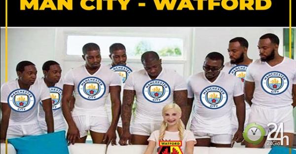 Ảnh chế: Man City hủy diệt Watford, Tottenham bị