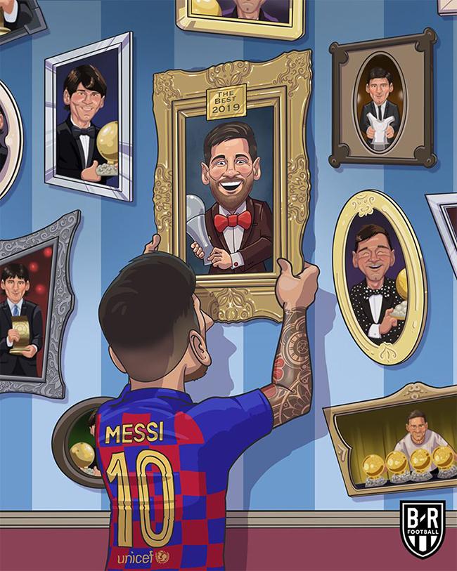 Messi bổ sung thêm giải thưởng vào bộ sưu tập cá nhân.