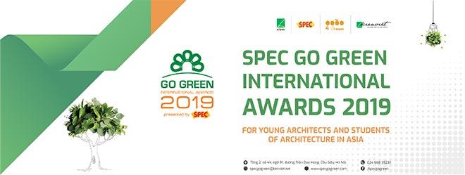 "Thể lệ giải Kiến trúc xanh ""Spec Go Green International Awards 2019"" - 1"