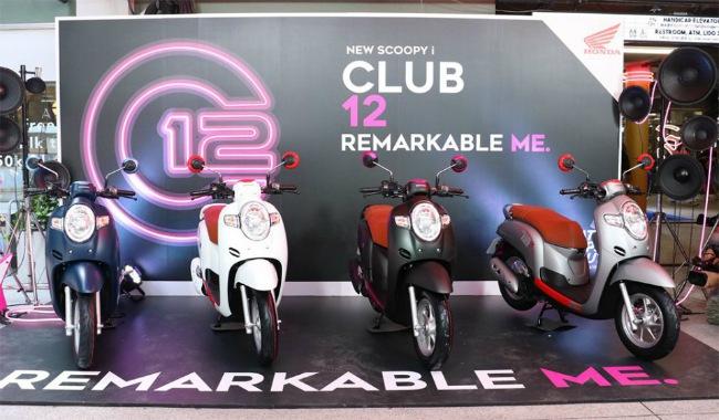 Nhà phân phối AP Honda vừa chính thức công bố thế hệ mới 2020 Honda Scoopy i ra thị trường Thái Lan. Xe có vành bánh cỡ 12-inch nên còn được gọi với cái tên là Scoopy Club 12, gồm 2 phiên bản gồm: Urban Team và Prestige.