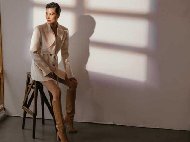 Siêu mẫu Vũ Cẩm Nhung lạnh lùng đầy sức hút với mốt menswear